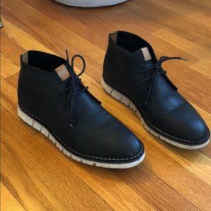 Men's cole Haan black chukka boots size 9